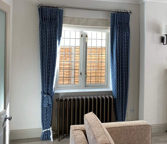 curtains and blinds fitted by a handyman in North London