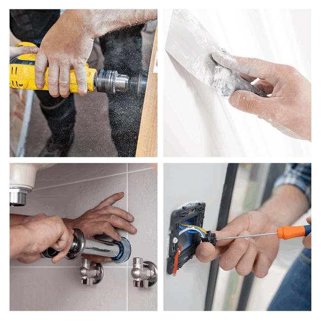 Hourly rates and charges of a handyman, electrician, plumber, builder and a painter in North London